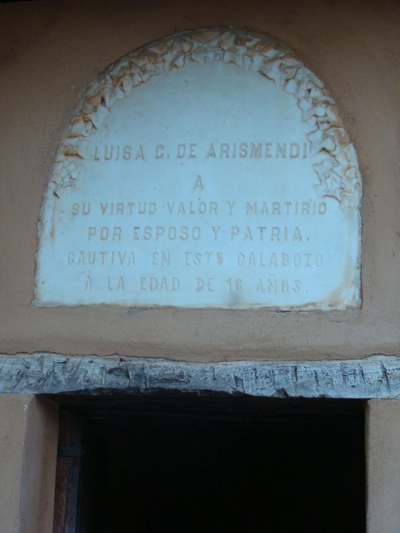 entrada de la celda de Luisa Caceres deArismendi