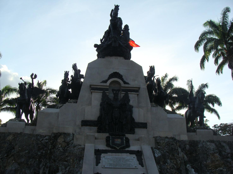 parte superior del monumento del altar a la patria