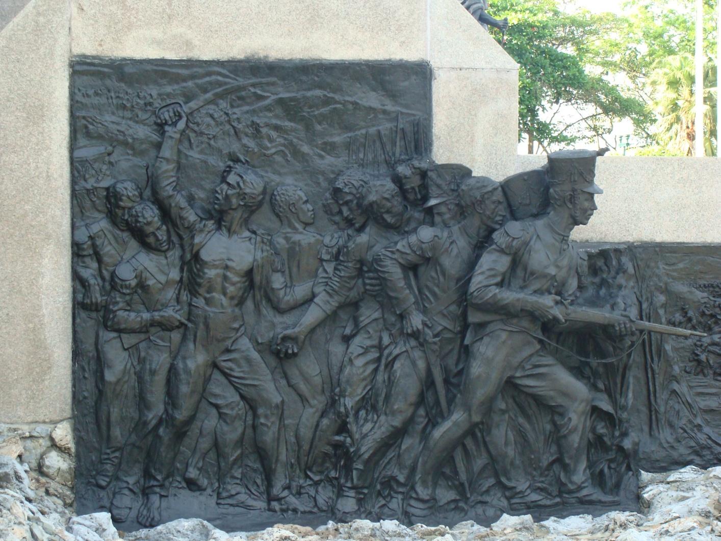 grabados en el monumento de el altar de lapatria