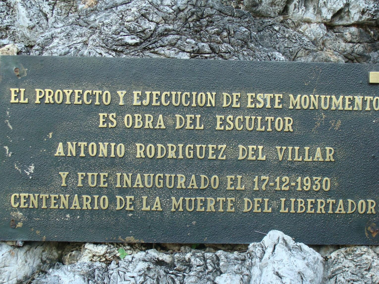 placa del monumento del altar de la patria