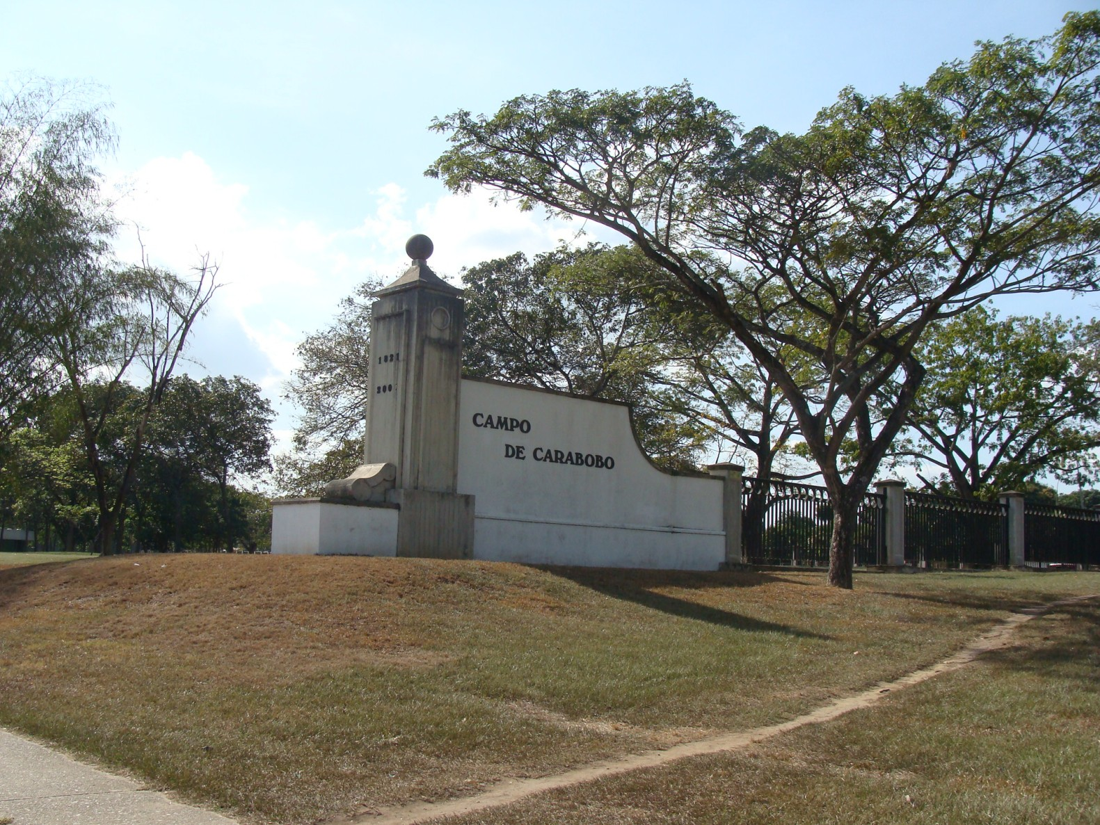 entrada del campo Carabobo