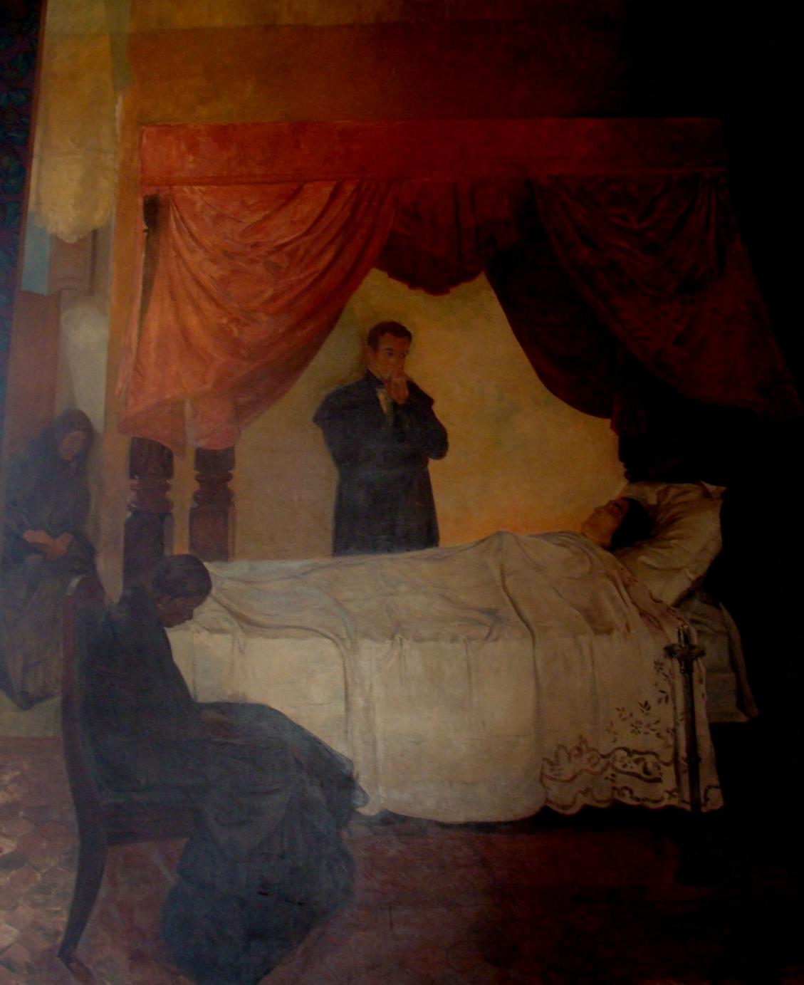 muerte de la esposa del Libertador  Maria Teresa Rodriguez del Toro y Alaiza