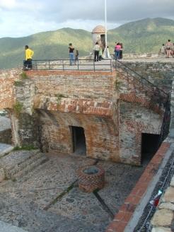 Vista desde arriba de la planta baja y parte de piso superior