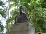 Estatua de Simon Bolivar en la plaza de Capaya